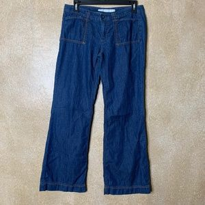 GAP | Dark Low Rise Chambray Jeans size 6